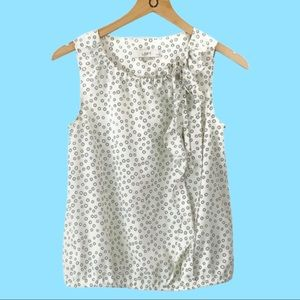 Ann Taylor Loft Sleeveless Top with Ruffle Accent